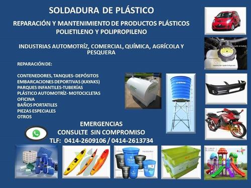 reparacion/soldadura de plastico polietileno -polipropileno
