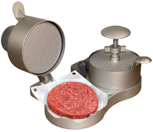 reparam formadora hamburguesa empanadas guantes acero vacio