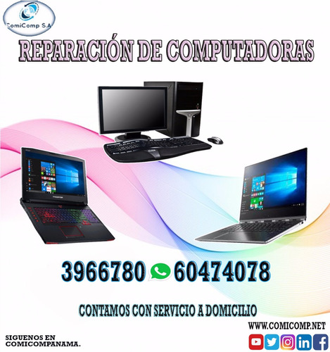 reparamos laptops y pc acer toshiba hp dell compaq
