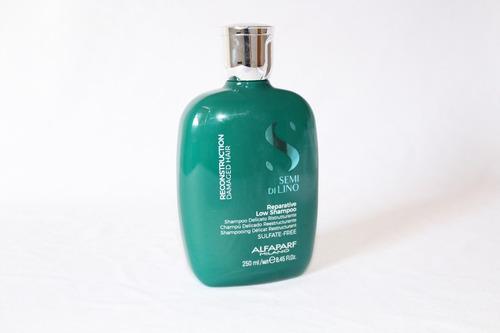reparative shampoo reconstruccion semi di lino alfaparf 250