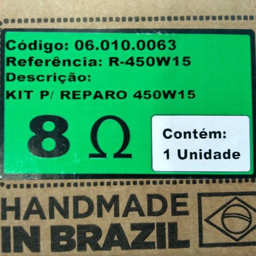 reparo alto-falante oversound 15  450w/15