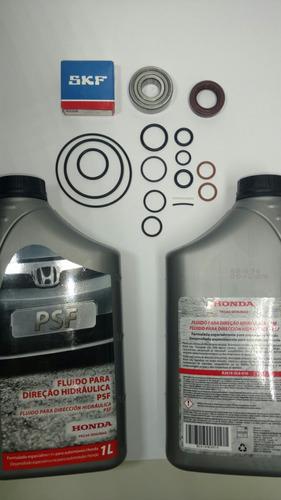 reparo bomba direção hidráulica new civic 2 óleos rolamento!