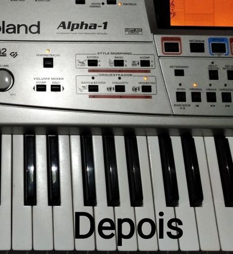 reparo botões de painel teclado roland alpha, roland em