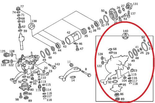 reparo da caixa direção mercedes c36 amg 1994-2000 original