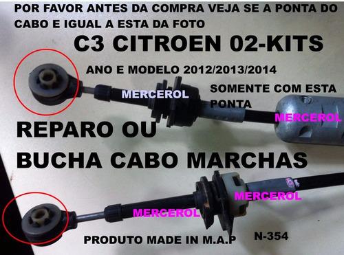 reparo dos cabos de seleção de marchas citroen c3 original