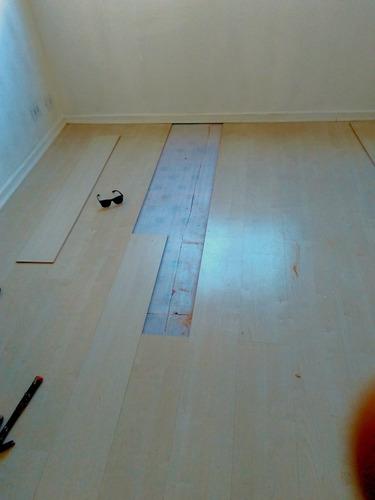 reparo em piso laminado!