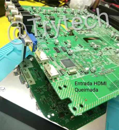 reparo em placa projetor epson s12 w12 x14 ex5210 hc 707 ...