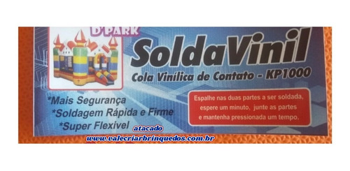 reparo para brinquedos infláveis c/2 colas 300ml+lona+brinde