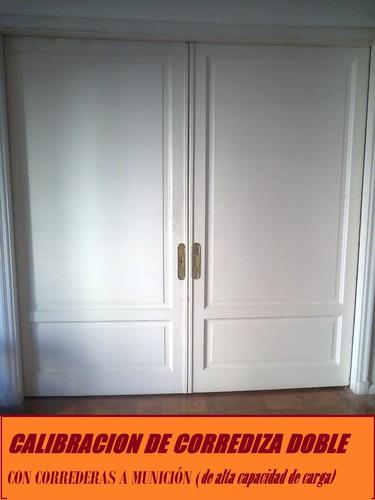 reparo puerta embutida placard ventana corrediza riel chapa