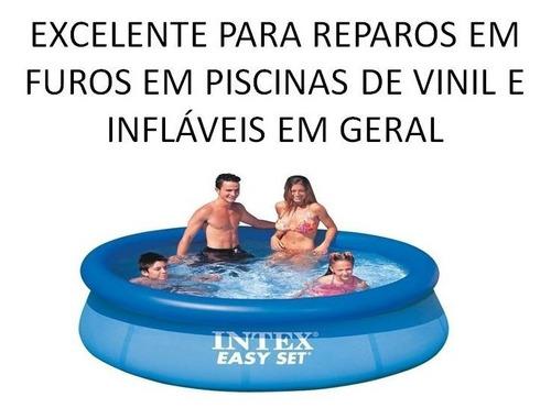 reparos remendo piscina infláveis cola intex frete grátis