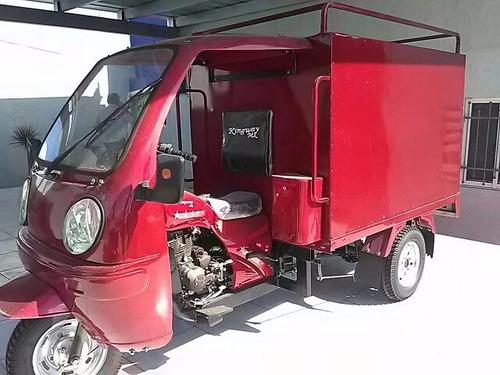reparto motocarro caja metálica kingway