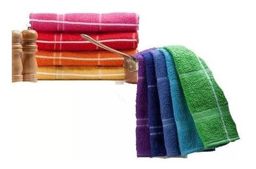 repasadores toalla 100% algodón x 6 unidades absorventes