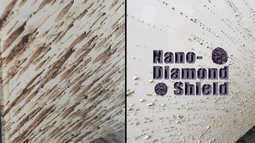 repelente al agua y antilluvia por nano diamond shield