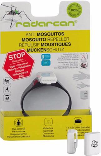 repelente anti mosquitos electrónico, pulsera radarcan r-101