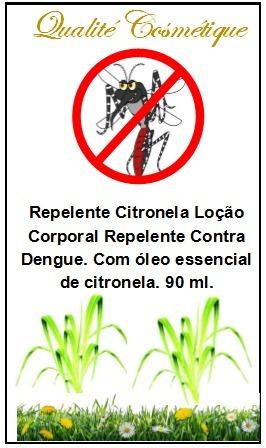 repelente contra dengue - loção corporal citronela repelente