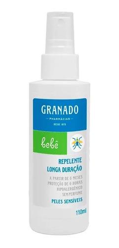 repelente de insetos - pele sensível - 110ml - granado