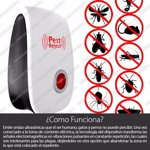 repelente de plagas ultrasónico ahuyenta insectos y roedores