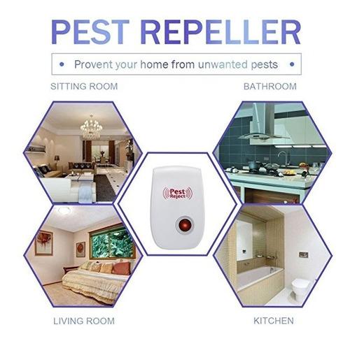 repelente electronico 4 pieza mosquitos insectos ratas