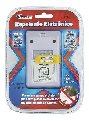 repelente eletrônico bivolt 127v 220v espanta ratos baratas