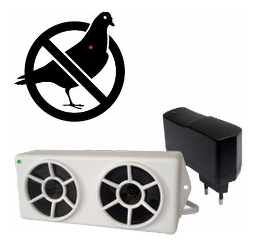 repelente eletrônico espanta pombos c/ 1 emissor 100m² rep01