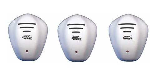 repelente eletrônico repele pernilongos ratos 3 unidades