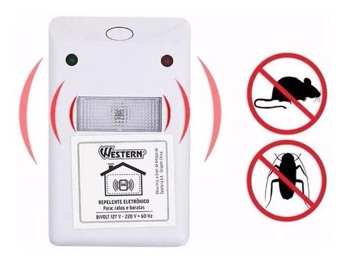 repelente eletrônico ultrassônico espanta ratos e baratas