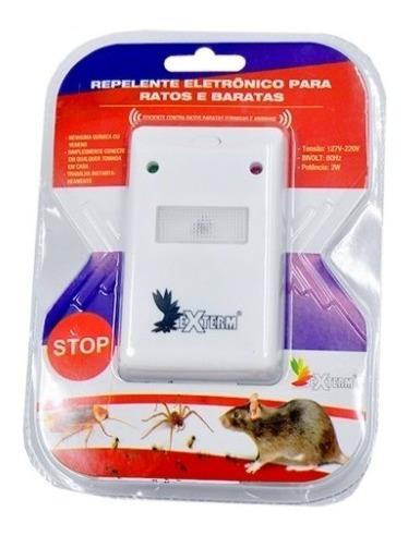 repelente eletronico ratos formigas aranhas baratas 4em1 luz