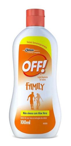 repelente off family loção 100ml