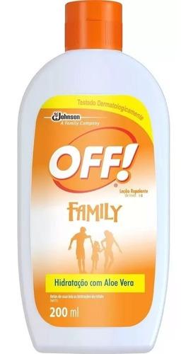repelente off hidratante loção family 200 ml