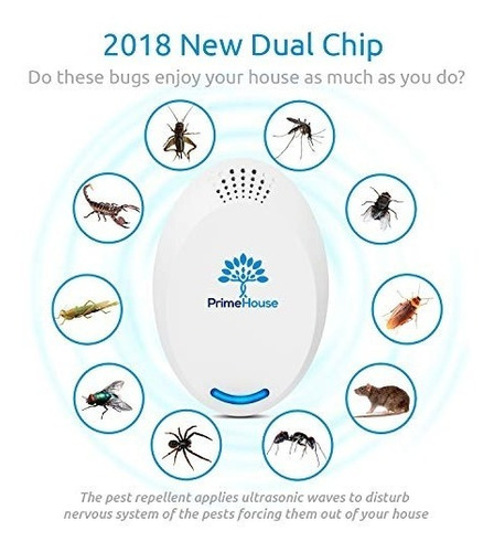 repelente plagas por ultrasonido conectar | repelente arañ