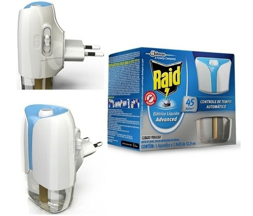 repelente raid mata mosquito advanced 45 noites automatic