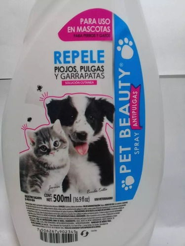 repelente spray antipulgas, garrapatas y piojos - pet beauty