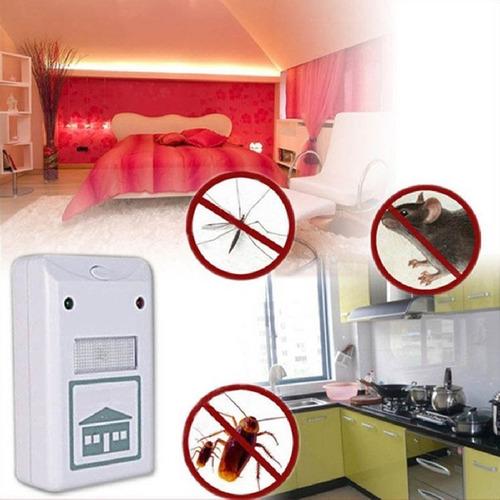 repelente ultrasonico ahuyenta mosquitos ratas cucarachas