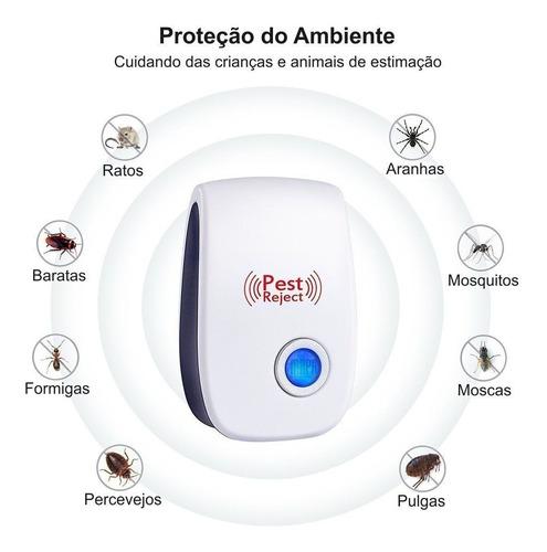 repelente ultrassônico eletrônico afasta ratos mosquitos e+