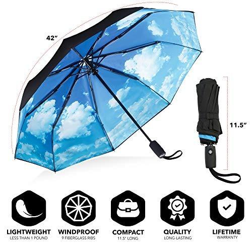 Repelir Guarda-chuva - Guarda-chuva Viagem Windproof Com Rev - R ... 19b0da53bfa