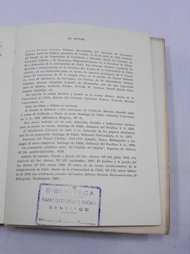repertorio de teatro chileno. j duran cerda. 1962