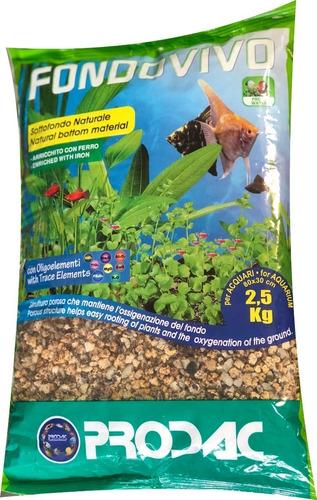 repetido nutritivo acuarios plantado fondo vivo prodac 2,5kg