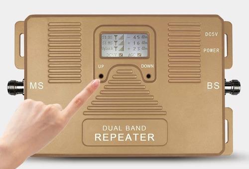 repetidor 3g 4g lte 850/1700/2100 señal doble banda antena