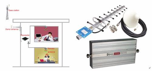 repetidor amplificador señal celular 3g-2g, kit zona rural