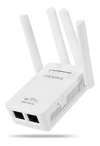 repetidor amplificador señal wifi 4antenas rompemuros pixlin