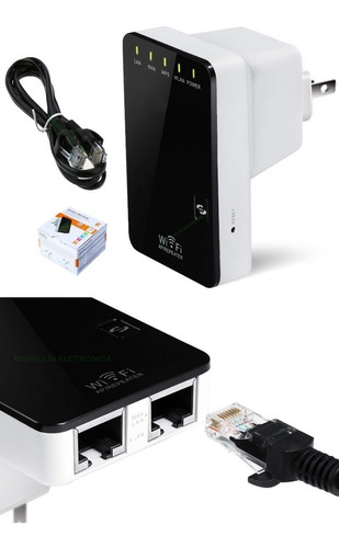 repetidor amplificador  señal wifi router rompemuros 300 mb