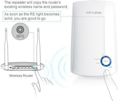 repetidor de wifi tp-link tl-wa850re 300mbps amplificador