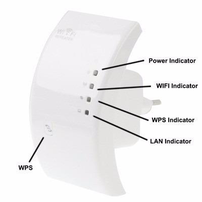 repetidor expansor wifi wireless 300mbps botão wps