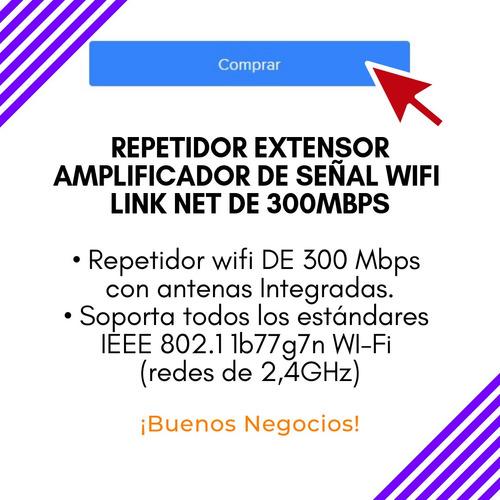 repetidor extensor amplificador señal wifi link net 300mbps