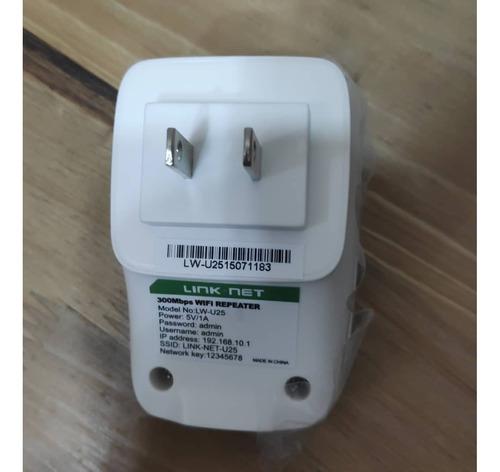 repetidor extensor de rango wifi link net 300 mbps lw-u25