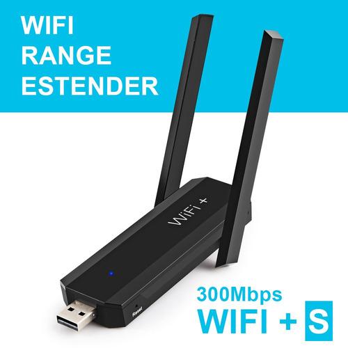 repetidor extensor wifi + s wireless 2 antenas usb mbps