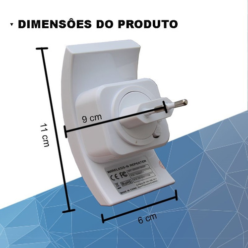 repetidor roteador sinal wireless-n wifi repeater 300mbps