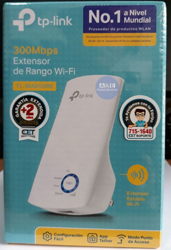 repetidor universal wifi wa850re 300mbps tp-link