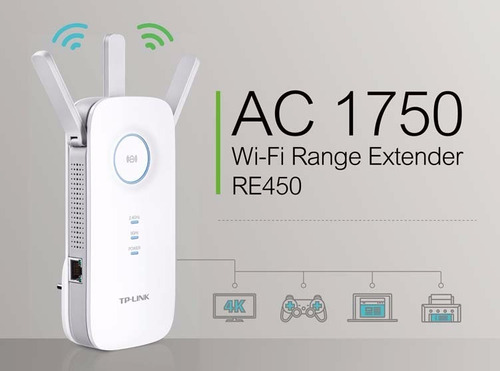 repetidor wifi extensor wireless tp-link re450 ac1750 d band