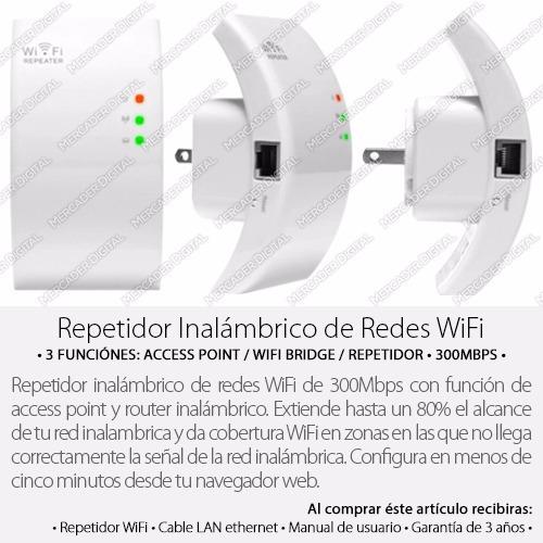 repetidor wifi / punto de acceso inalámbrico 300mbps router